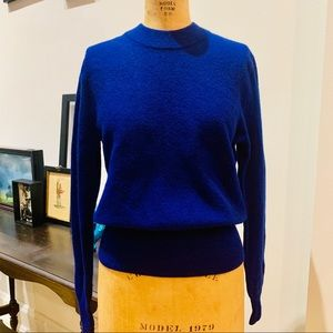 J Crew Blue lambswool sweater size M